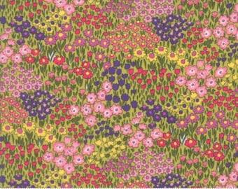 Regent Street Lawn 2016 by Moda - Floral Camden - Light Green - FQ Fat Quarter Cotton Lawn Fabric 117