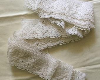 Vintage cotton LACE TRIM - vintage edging