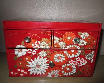 Jewelry Box with  Retro Flowers