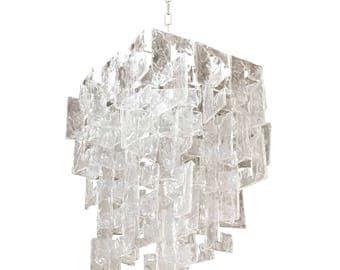 Murano interlocking glass chandelier