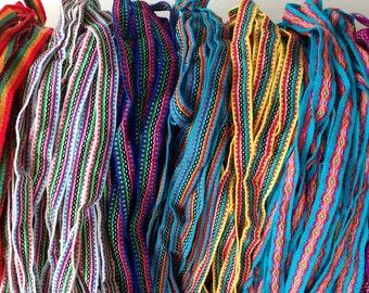 Jacquard ribbon trim peruvian ethnic boho woven trim 11 yards