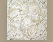 """RESERVED Original Acrylic Abstract Painting on Canvas Titled: Positive Energy 3 40x40x1.5"""" By Ora Birenbaum"""