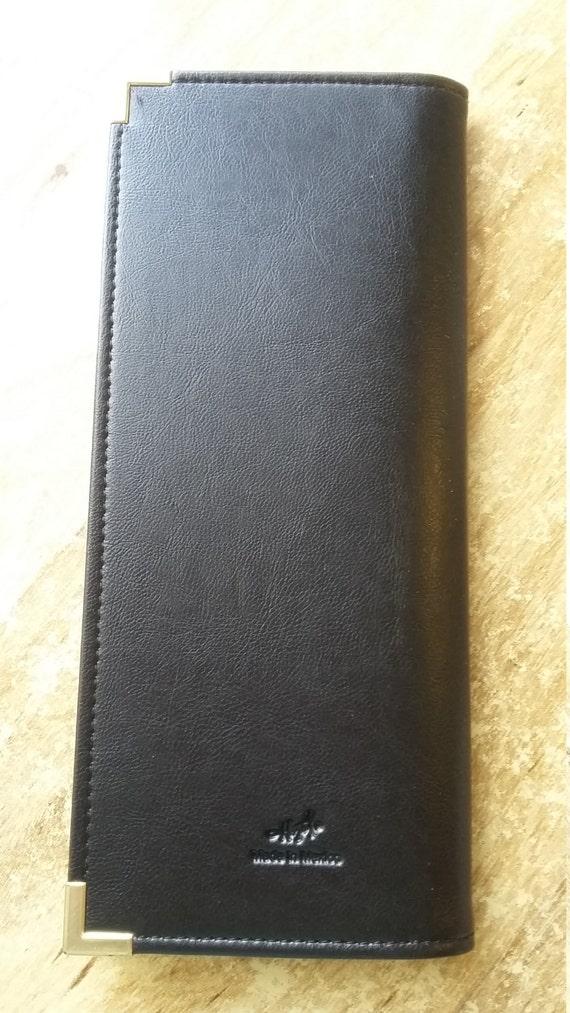 Business card holder portfolio organizer keeper leather like this item colourmoves