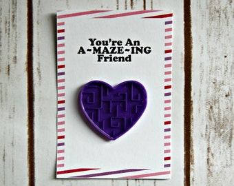 A-MAZE-ING Valentine Cards, Set of 6, Includes Maze