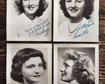 Set of Four Original Vintage Photographs Best Wishes