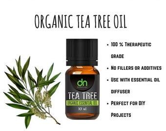 Tea Tree Oil  - Organic Tea Tree Oil - Organic Tea Tree Essential Oil - 5 ml - Tea Tree Essential Oil - Tea Tree - Organic Essential Oil