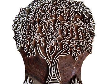 Large Tree Printing Block- Fabric Printing and Paper Printing Stamp - Block Printing Stamp Tree of Life