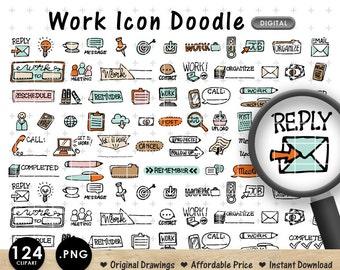 DIGITAL CLIPART Work Job Icon Meeting Doodle Planner. Downloadable. Great for making Planner Stickers. Life Planner. Erin Condren.