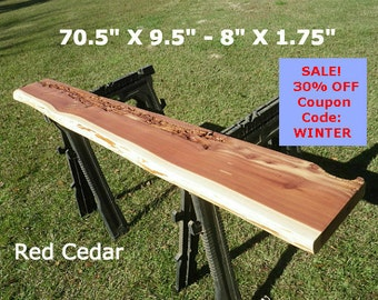 Live Edge Red Cedar Finished Wood Slab Hallway Table, Natural Edge Desk Top, Floating Shelf, Work Station, Foyer Table, Bar Counter Top 4511