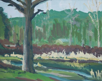 Memories of a Pond II Original Plein Air Painting