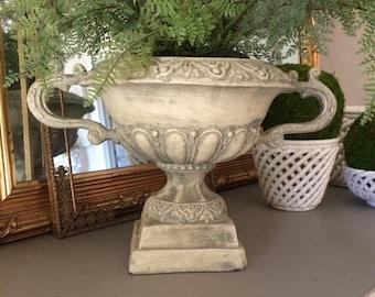 Vintage Urn Plaster Urn Plaster Planter