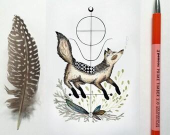Spirit Animal: The Wolf Post Card