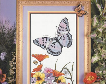 """Clearance- """"The Butterfly"""" Counted Cross Stitch by Cross My Heart"""