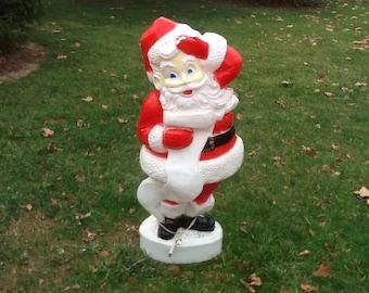 """Union Santa Blow Mold Light Vintage Christmas Lawn Decor Large 44"""""""