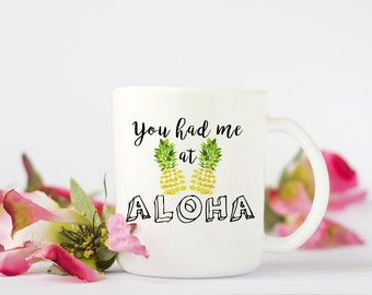 Aloha Coffee Mug, Funny Coffee Mug, Coffee Mug, Hawaii Coffee Mug, Birthday Gift, Wedding Gift, Grooms Gift, Anniversary Gift, Cute Mug