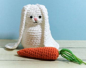 Easter Bunny and Carrot Amigurumi Crochet Pattern