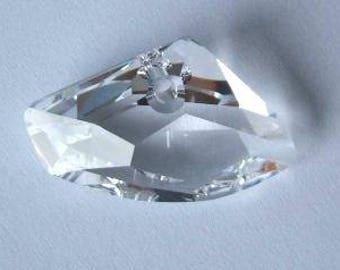 1 SWAROVSKI 6657 GALACTIC Horizontal Crystal 27mm CLEAR