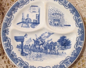 Vintage Iroquois China Restaurant Ware Grill Plate, Ye Olde Inn, 1931