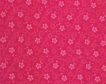 Cotton Fabric / Pink Cotton Fabric / Pink Floral Fabric / Floral Fabric / Quilting Fabric / Pink Fabric / Pink Calico Fabric / By The Yard