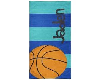 Basketball Personalized Beach Towel