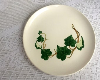 Vintage California Ivy Metlox Poppy Trail Luncheon Plate Hand Painted China