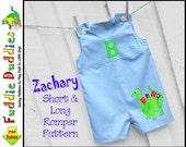 Zachary Long & Short Baby Boys Romper Pattern pdf, Jon Jon Pattern, Longall Pattern, pdf sewing pattern. Baby Boys Sewing Pattern, Baby Pant