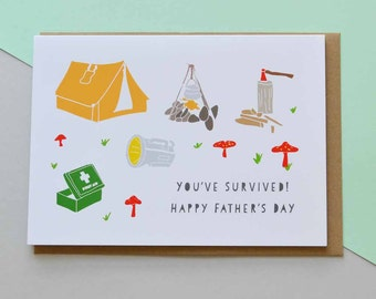 Happy Father's Day 'You've Survived!' - Greeting Card (Free UK delivery)