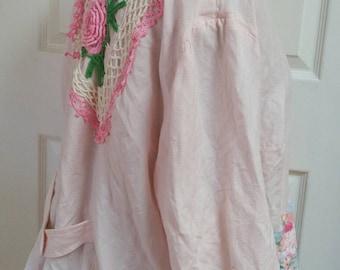 Shabby soft Pink linen jacket