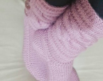Knit slippers, cable socks, ındoor socks, clothing, boot cuff, legwear, winter gifts, valentines day gifts
