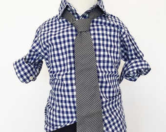Grey Junior Cord Necktie