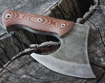 """Handcrafted FOF """"Lil' Tom"""" full tang tactical and survival axe"""