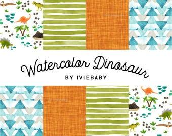 Watercolor Dinosaur Bedding. Baby Bedding. Dinosaur Baby Bedding. Dino Baby Bedding. Crib Sheet. Crib Skirt. Nursing Pillow Cover.