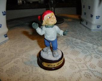 Vintage Swedish Gnome troll by Rolf Lidberg - Happy boy - Christmas - Limited edition