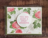 CLEARANCE! You Are Such A Great Grandma Greeting Card