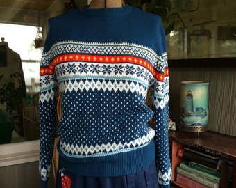 Vintage sweater Nordic size women's Large pullover