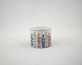 Vintage Danish Modern Bo Melander Candleholder, Terra Cotta Glazed Pottery, Scandinavian, 1960s