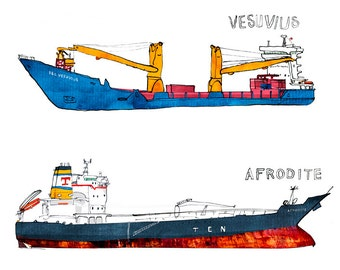 two tankers: Aphrodite and Vesuvius