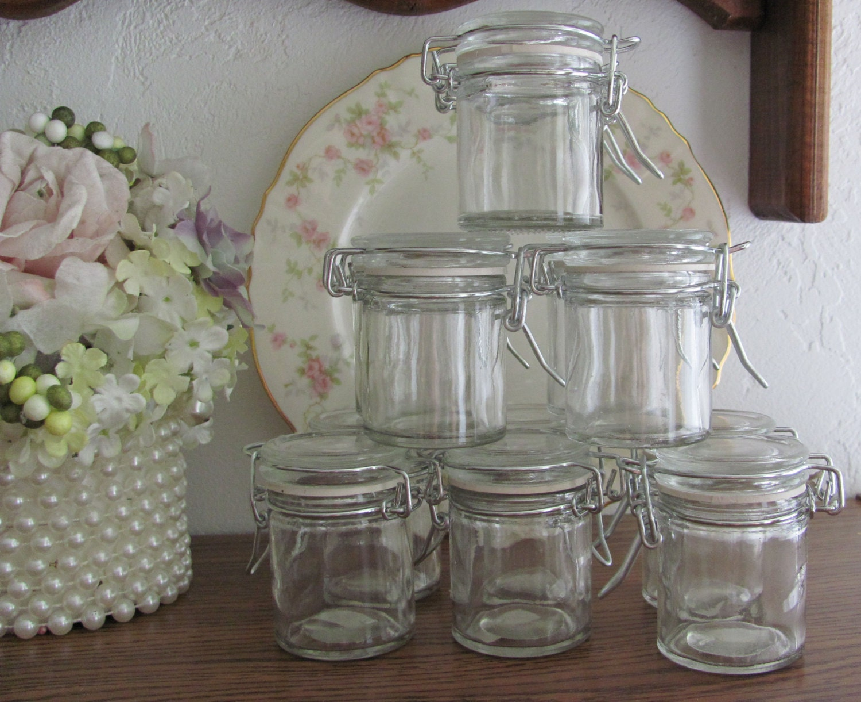 mini gift jars snap lid jars wire closure jars craft jars. Black Bedroom Furniture Sets. Home Design Ideas
