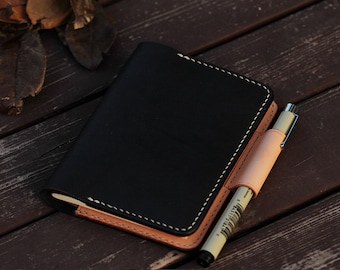 100% Hand-stitched Vegetable Tanned Leather Notes Cover/Note Book Cover/Moleskine / Field Notes Cover