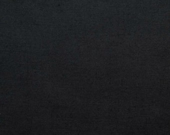 45 Inch Poly Cotton Broadcloth Black Fabric by the yard - 1 Yard