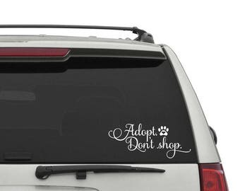 Adopt Don't Shop Car Decal