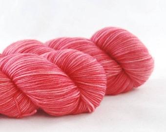Hand Dyed Merino / Nylon Sock Yarn Candy Pink