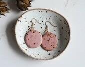 Ceramic Earrings - Dangle Earrings - Ceramic Jewelry - Ceramic Jewellery - Earrings - Speckled Earrings