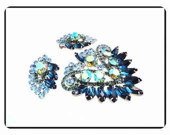 D&E Vintage Demi -  Sapphire Blue and Green Ravishing Juliana   Demi-559a-020517055