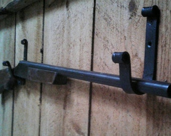 Hand Forged Gun Display Rack- Set of 2 Felt Lined Hooks in your choice of color!