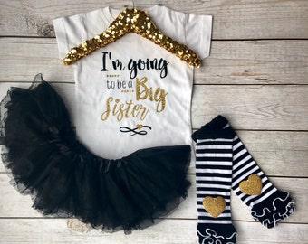 Big Sister, Big Sister Outfit, big Sister shirt, big sister tshirt, i'm going to be a big sister, Pregnancy Reveal, big sister gift