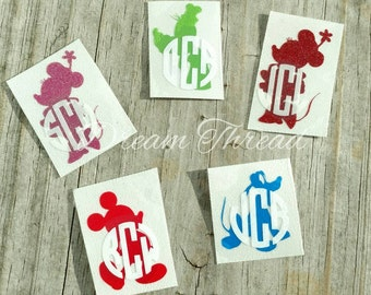 Monogram Disney Magic Band Decals, Original Disney Characters, Disney, Mickey, Minnie, Monogram, Glitter Magic Band Decals (made to order)
