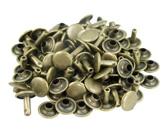 Antique Brass Medium Double Capped Rivets - 50 Pack #407-137305