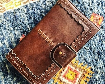IBIZA. Womens wallet / brown leather wallet / wallets for women / brown leather clutch / travel wallet. Available in different leather color
