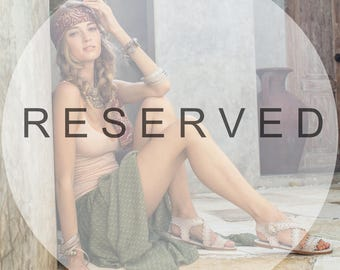 Reserved for Jessica. MIDSUMMER. Brown leather sandals